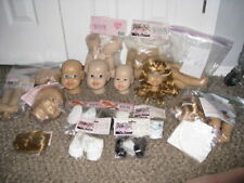 Huge Lot - Sydnee's Crafts Vinyl Doll Parts & Kits - Ashley, Wigs, Heads, Limbs