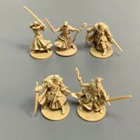 5PCS Golden Hero Plague Huntsman Miniatures Dungeons & Dragon Board Game Figure