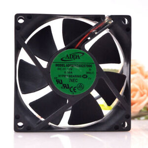 1pc ADDA AD08012XX257000 8025 8CM DC12V 0.30A 2-wire Chassis Cooling Fan