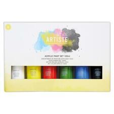 Docrafts Artiste Acrylic Art & Craft Paint Set 6 x 100ml -