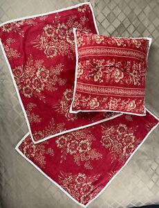 """3 Pcs Chaps RL Home 'Telluride' 2 Standard Pillow Shams & 19"""" Throw Pillow NEW"""