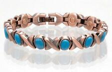 NEW COPPER MAGNETIC TURQUOISE LINK BRACELET  womens STYLE#TQ-XO  jewelry health