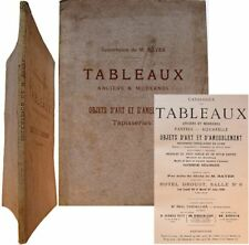Catalogue tableaux anciens modernes succession Bayer 1905 Corot Roybet Troyon