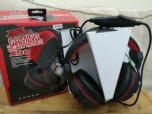 NO FEAR GAMING HEADSET WITH MIC HEADPHONES X90 PS4 PC Laptops