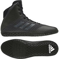 Adidas Mat Wizard 4 Wrestling Shoes Boxing Boots Trainers Black Mens