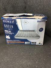 Bestway Queen Air Mattress Built-In Pump Soft Top 12in Height M3E