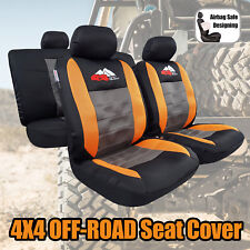 4x4 OFF-ROAD Airflow Spacer Mesh Orange Black Gray Sports Seat Covers For Toyota