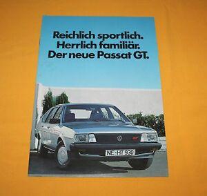 VW Passat GT 1984 Prospekt Brochure Catalogue Depliant Prospetto Prospecto
