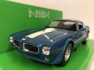 Pontiac Firebird Trans AM Blue with White Stripe 1:24-7 Scale Welly