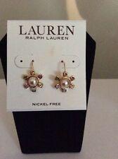 $34 Lauren Ralph Lauren Rock Faceted Stone Flower Drop Earrings #5