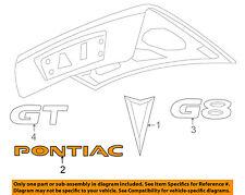 Pontiac GM OEM 08-09 G8 Trunk Lid-Emblem Badge Nameplate 92205489
