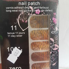 Brand New 16 Gold Gradient Zebra Print Nail Patch Nail Foils for Nail Technician