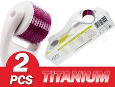 2 of (540 Needles) TMT White Dermaroller ,Titanium 0.25&1.5 mm  Hair Loss , Acne