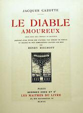 CAZOTTE/LE DIABLE AMOUREUX/+ ETUDE PAR NERVAL/ED CRES ET CIE/1920/BOIS GRAVES