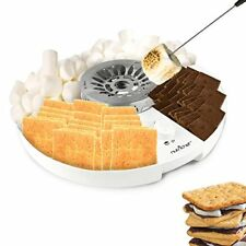NutriChef S'mores Maker Station Set  Electric Marshmallow Candy Melter Machine
