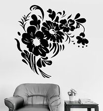 Vinyl Wall Decal Flowers Bouquet Floral Nature Room Decor Stickers (1130ig)
