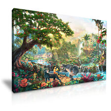 Il LIBRO DELLA GIUNGLA DISNEY CARTOON CANVAS WALL ART PICTURE PRINT 76x50cm