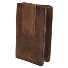 STS Ranchwear The Foreman Brown Leather Money Clip Wallet STS61035