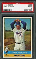 1976 Topps #600 Tom Seaver Card - HOF - Mets - PSA 9 - MINT - 23084697 - (SCA)