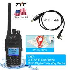 New TYT MD-UV390 IP67 DMR Digital Mobile Radio Dual Band 2 Way Radio with GPS
