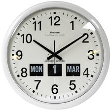 Grayson Round White Dementia or Partially Sighted Calendar Clock 460mm  - G240A
