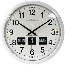Grayson rond blanc Dementia ou déficience visuelle Calendrier Horloge 460mm -