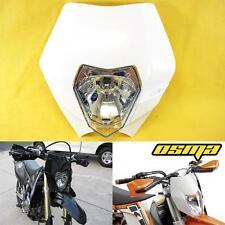 White Headlight Dual Sport KTM EXC MXC LC4 520 525 450 Supermoto Dirt Bike 250