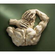 Erotic Nude Body Wall Sculpture Sexy Man Male Statue Adult Fantasy Bedroom Art