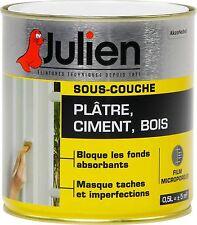 PEINTURE SOUS COUCHE PLATRE BOIS CIMENT BETON JULIEN 0.5L BLOQUE FOND ABSORBANT