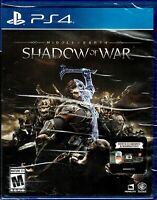 Middle Earth Shadow of War PlayStation 4 PS4 Brand New