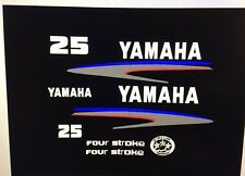 Yamaha Outboard Motor Decal Kit 25 HP 4 Stroke Kit   Marine Vinyl