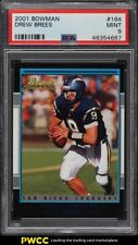 2001 Bowman Football Drew Brees ROOKIE RC #164 PSA 9 MINT