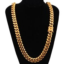 Stunning 16mm Thick 18K Yellow Gold Plated 200g 61CM Men's Chain