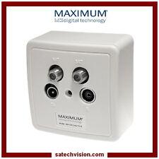 Boîte d'Arrivée 2X SAT / TV / FM Maximum MX 700, Prise Murale Coaxiale 4 Sorties