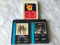 Diana Ross Lot Of 3 Baby It's Me, ROSS, Surender 8-Track Tape Cartridges RARE!