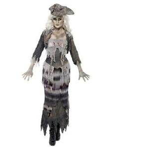Adult Womens Ghost Ship Ghoulina Pirate Themed Fancy Dress Costume