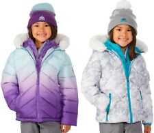Snozu Kids Girl's Puffer Jacket with Knitted Hat