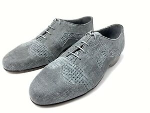 R. Martegani Women's Size 8 D Grey Suede Wingtip Hand Made Italy New 325$