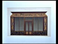PHARMACY IN FRANCE - 1900 - GOLDEN LITHOGRAPH - SHOP FRONT, GRUZ