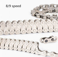 9 Speed BIke Chain Single Speed Fixed Gear Bicycle Galvanized Chain 116 Links