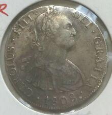1808 PTS PJ Bolivia 8 Reales - AU Details Lightly Cleaned