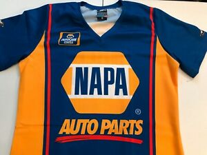 "NHRA DRAG RACING ""NAPA AUTO"" RON CAPPS  LADIES UNIFORM REPLICA SHIRT SIZE 2X"