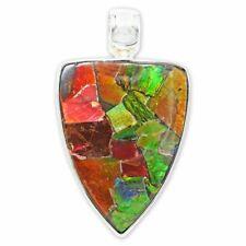 Ammolite Pendant Necklace by Stones Desire