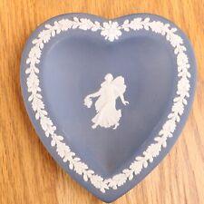 Wedgwood Jasperware Dark Blue Heart Plate Angel