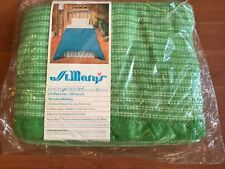 St Mary's Blanket Vintage Twin /Full Blanket 72x90 New NOS Gingham Patch Thermal