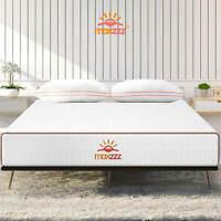 Maxzzz 8 Inch Gel Infused Memory Foam Hybrid Bed Mattress Queen Size Medium Firm