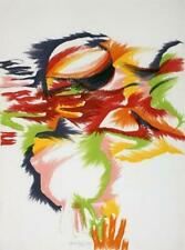 """Marisol Escobar """"Budding"""" colorful lithograph, 1980 Hand Signed & numbered"""