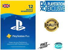 PlayStation Plus 12 Month 365 Days PSN Network Key PS3 PS4 PS Vita - UK