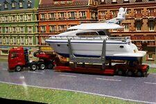 Siku 1849  MAN TGA Heavy Haulage Transporter with Drettmann Yacht H0 Scale 1:87