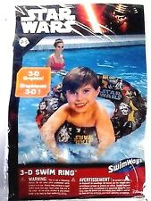 "STAR WARS Swimming Pool 24"" 3-D Graphics Swim Ring fun pool toy for kids ages 3+"
